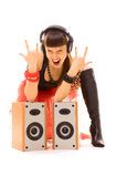 Emotional rock lover Stock Photography