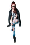 Emotional rocker girl Royalty Free Stock Image
