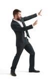 Emotional screaming businessman Stock Image