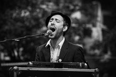 Emotional singer. Charlie Winston Stock Photos