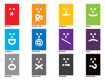 Emotional Spectrum. A collection of 12 emoticons royalty free illustration