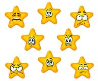 Emotional star icons Royalty Free Stock Photography