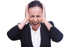 Emotional stress. Royalty Free Stock Photo