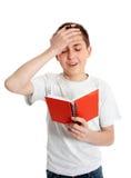 Emotional student, blunder, upset, mistake royalty free stock photo