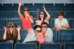 Emotional Theater Audience Royalty Free Stock Photo