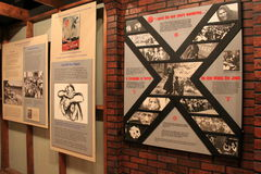 Emotional timeline of life in the Oswego Refugee Camp,WWII,Albany State Museum,2016 Stock Photo