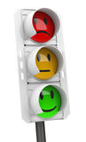 The emotional traffic light Royalty Free Stock Photography