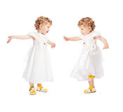 Emotional twins Royalty Free Stock Photography