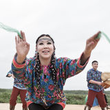 Emotional woman dance - dancer Koryak Folk Dance Ensemble Angt. Kamchatka, Russia Stock Photography