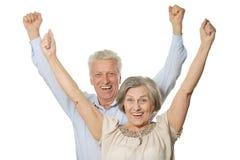 Emotionale ältere Paare Lizenzfreies Stockbild