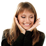 Emotionale attraktive des jugendlich Mädchens machen Gesichter Lizenzfreies Stockbild
