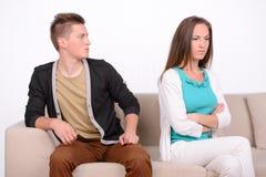 Emotionale Paare stockbild