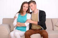 Emotionale Paare lizenzfreie stockfotografie