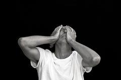 Emotionaler Mann lizenzfreie stockfotografie