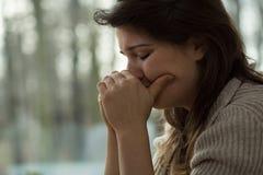 Emotionaler Zusammenbruch lizenzfreie stockbilder