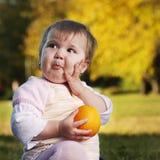Emotionales Babygesicht lizenzfreie stockfotos