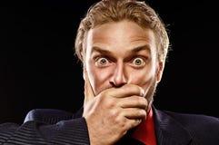 Emotionales männliches Portrait Lizenzfreies Stockfoto