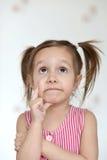 Emotionales nettes Mädchen Lizenzfreie Stockfotos