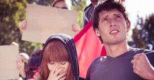 Emotionally devastating day for a young activist Stock Image