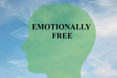 Emotionally Free - mental concept stock illustration