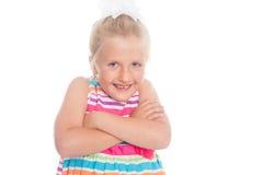 Emotionally playful girl Royalty Free Stock Image