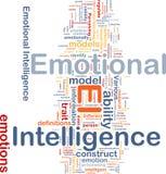Emotioneel intelligentieconcept als achtergrond Stock Foto