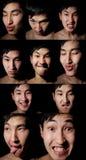 Emotioneel kleurenportret Royalty-vrije Stock Foto's
