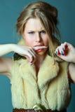 Emotioneel meisje Royalty-vrije Stock Afbeelding