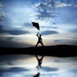 Emotioneel silhouet Royalty-vrije Stock Foto's
