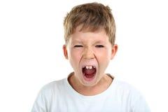 Emotioneel weinig jongen stock fotografie