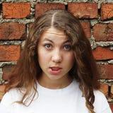 Emotioneel zoet meisje Royalty-vrije Stock Foto