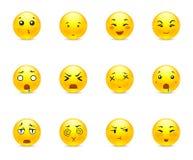 Emotionele animestickers Royalty-vrije Stock Fotografie