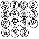 Emotionele gezichten stock illustratie