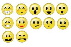 Emotionele gezichten Stock Foto's