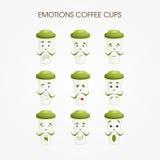 Emotionele koffiemokken Royalty-vrije Stock Afbeelding