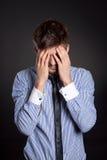 Emotionele mens stock afbeelding