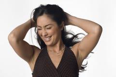 Emotionele vrouw Royalty-vrije Stock Afbeeldingen