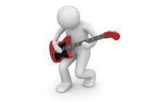 emotionell gitarristrock Fotografering för Bildbyråer