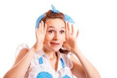 Emotionell hemmafru Fotografering för Bildbyråer