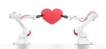 Emotionell intelligens i robotteknik Arkivfoton