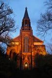 Emotionell kyrka i Berlin med den ljusa dörren på royaltyfri fotografi
