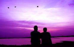 Emotionell sida av kamratskap Fotografering för Bildbyråer
