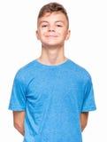 Emotionell stående av den tonåriga pojken fotografering för bildbyråer