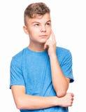 Emotionell stående av den tonåriga pojken royaltyfri foto