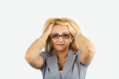 emotionell ståendekvinna Royaltyfri Foto