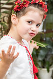 Emotionell ukrainsk flicka arkivbilder