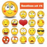 Emotionella framsidasymboler för vektor Arkivfoto