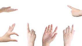 emotionella händer för begrepp som tillsammans rymmer kvinna två Arkivfoton