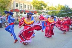 Emotionellt dansa för mexikaner Arkivbilder