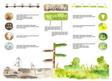 Emotionellt infographic Royaltyfria Bilder